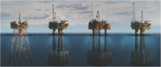 Offshore Brent fields